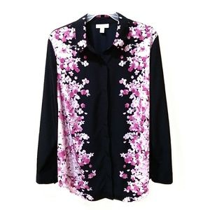 Charter Club Tops - Charter Club flower print button down shirt